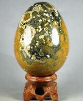360g Amazing Druzy Ocean Jasper Orbicular Sphere Reiki Crystal Egg Madagascar