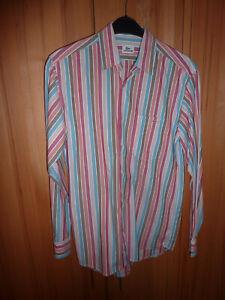 Lacoste Herrenhemd Gr. 40, langarm, längstgestreift