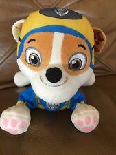 "Paw Patrol Sea Patrol Super Pups Rubble Plush Dog 8"" Toy Exclusive Nickelodeon"