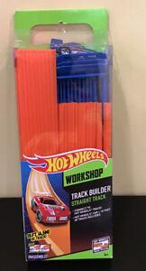 OPEN BOX Hot Wheels Workshop Track Builder 15' Straight Track & Connectors & Car