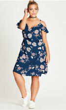 City Chic Floral Wrap Dresses