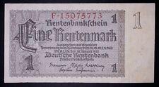 "German ""Nazi "" 1 rentenmark banknote, 1937year,(normal condition)"