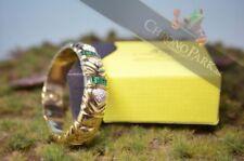 Smaragd Echtschmuck-Armbänder aus Gelbgold für Damen