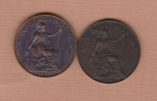 More details for two 1902 & 1910 edward vii bronze farthings in extremely fine condition