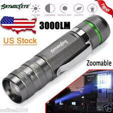 Sky Wolf Eye 3000LM Flashlight CREE XM-L T6  5-Mode LED Torch Lamp Super Bright
