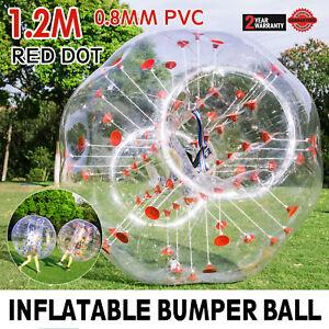 1.2M Inflatable Bumper Ball Zorb Ball Red Dot Bumper Ball Playing Games Football
