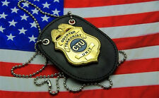 High-quality 24 Hours TV Series CTU Special Agent Prop Badge & Leather Holder