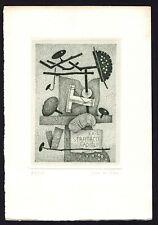 39)Nr.140-EXLIBRIS- Lucca Crippa,  signiert, C3 - Radierung