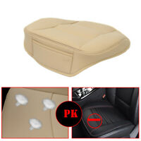 Universal Beige Front Car Seat Cover Breathable PU leather Cushion Durable Hot