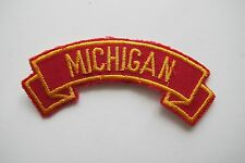 #6719 MICHIGAN Word Tag Embroidery Sew On Applique Patch