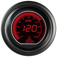"""2"""" 52mm Oil Temp Blue/Red LED Gauge Temperature in Celsius Car Digital Meter 12V"""