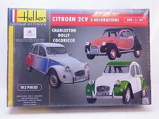 LOT 42702   Heller 80767 Citroen 2CV Ente 3 Decorations 1:24 Bausatz NEU in OVP