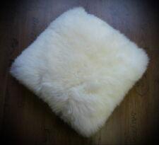 Kissen Sitzkissen Schaffellkissen Lammfellkissen Fell weiß 40 x 40cm