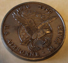 United States Airborne 50 Years 1940-1990 Army Challenge Coin