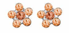 Minott Fleur Premier Clou D'Oreille Steinimitation Orange Inox 100% Stérile
