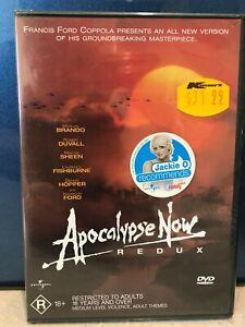 New&Sealed Apocalypse Now Redux DVD Francis Ford Coppola Marlon Brando Fishburne