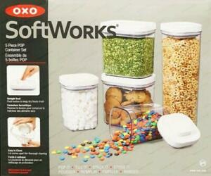 OXO SoftWorks Food Container 5 Piece Set Food Storage Set Pop Container