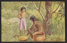 Brazil ethnic Mission Amazonian Natives artist drawn c1900/20s? PPC