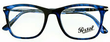 Persol Po3188v 1053 Classic Striped Blue RX Eyeglass Frame Unisex 51mm Italy