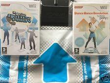 Nintendo Wii Game - HOTTEST PARTY DANCE STAGE 1 + DANCE REVOLUTION 2 + Dance MAT