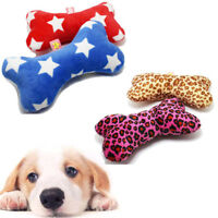 Durable Pet Puppy Dog Latex Chew Sound Squeaker Squeaky Training Toy Bone Pillow