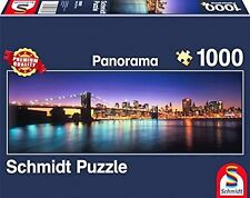LIGHTS Of New York: Schmidt Jigsaw Puzzle 1000 PEZZI Panorama Puzzle 58282