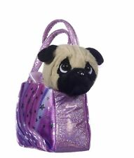 "Pug Dog in Sparkle Bag luxury Soft Toy 8"" Cuddly Toy Plush Toys"