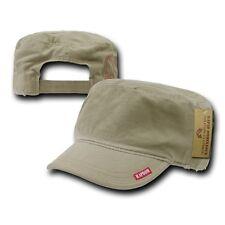 Khaki Tan Beige GI Patrol Military Army Cadet Flat Adjust BDU Cap Hat Caps Hats