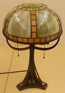 Art Glass Lamp Art Deco Secessionist