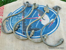 EXQUISITE lot OF four HUGE ANTIQUE FRENCH CHATEAU CURTAIN / DRAPE HOOKS 1800's