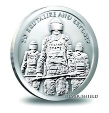2015 Silver Shield Collection Police State 1 oz Silver Round
