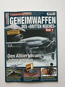 Clausewitz Spezial   GEHEIMWAFFEN des  DRITTEN REICHS Teil 1   , 1A TOP