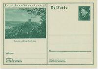 DT.REICH Friedrich Ebert 6Pf 1932Bildpost-GA Ruhrtal Burg BLANKENSTEIN HATTINGEN