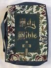 """Sturdy Bible Canvas Cover / Handle 7"""" x 9 3/4"""" x 1 3/4 """""""