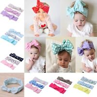 3pcs Newborn Headband Elastic Kids Baby Print Floral Hair Band Girls Bow-knot