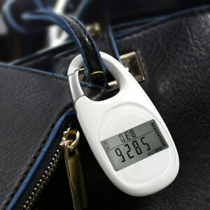 Simple 3D Digital Pedometer Portable Walking Step Counter with Carabiner Clip