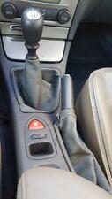 Para Renault Laguna MK2 01-07 Cubierta del engranaje perilla de freno de mano Cuero Gris Oscuro