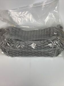 """Bee & Willow Home Gray Rectangular Rope Woven Handled Basket 14.5""""x11.5""""x8"""" NEW"""