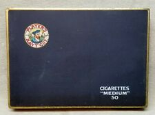 Players Navy Tobacco Flat 50 Cigarette Tin.