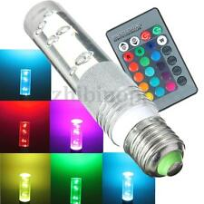 E27 3W RGB 16 Color Changing LED Crystal Light Bulb Lamp with IR Remote Control