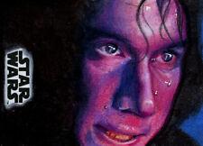 Star Wars JTTLJ Sketch Card - LOUISE DRAPER - KYLO REN