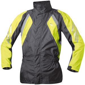 Held Rano Waterproof Motorcycle Motorbike Over Jacket - Black / Fluo Yellow