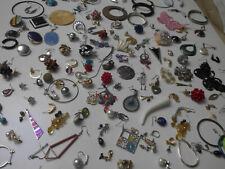 XXL Konvolut 153 Einzelne Alte Ohrringe Schmuck Lot Nachlass