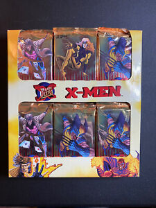 1995 Fleer Ultra X-Men Trading Card Rack-Pack Box - Marvel  **NOT SEALED**