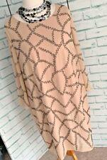 LOVEDROBE Blush Beaded Evening Tunic Dress Sz 20 UK Party flapper Cruise / b20