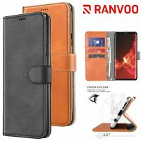 For Samsung Galaxy S9 Plus Leather Flip Wallet Stand Pouch Card Phone Case Cover