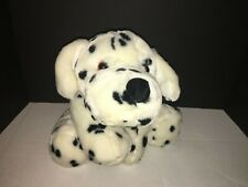 Commonwealth Dalmatian Dog Puppy Plush Stuffed White & Black Polka dot Spotted