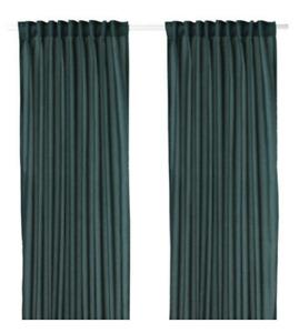 IKEA Vivan Sealed Pair Curtain Panel Evergreen Green Blue Drape NEW Dark Teal,2