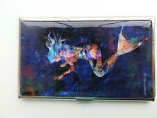 More details for beautiful korean mother of pearl business card holder colourful mermaid.  new in