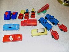 Vtg Lot 14 Hard Plastic Cars Trucks Tractors Renewal Ideal Banner Wanna Gilmark